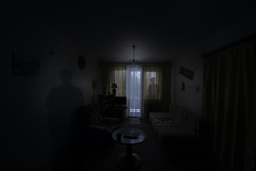 two shadows inside room