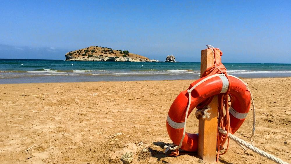 ring buoy at the beach