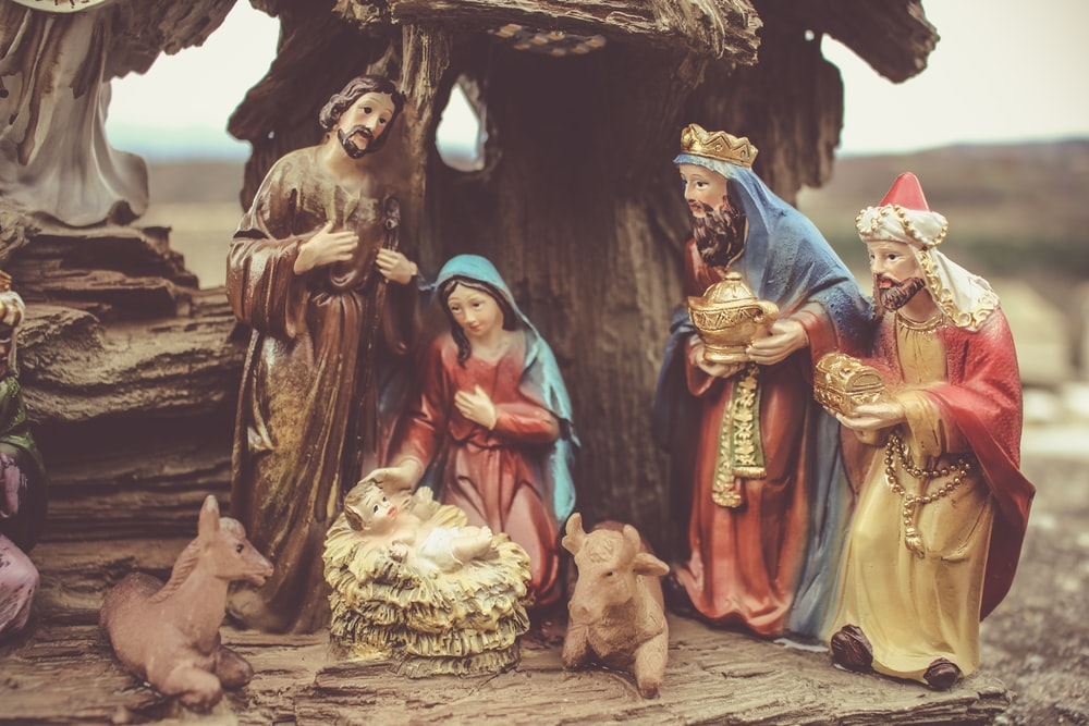 Mother Mary gave birth of Jesus Christ The Manger figurine