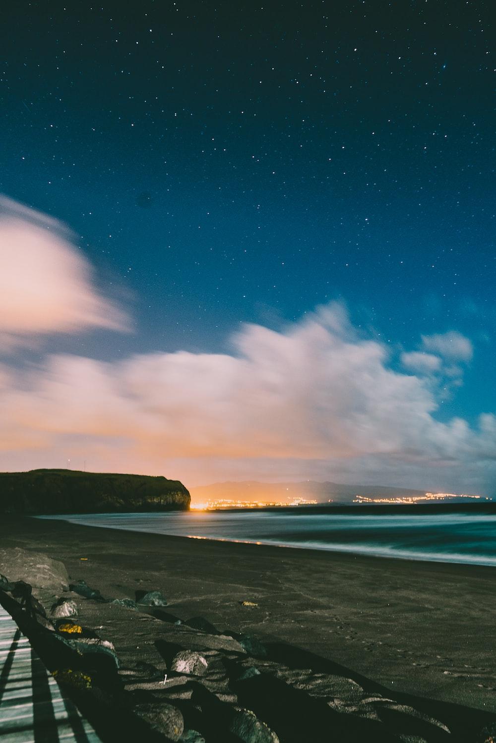 shore during golden hour