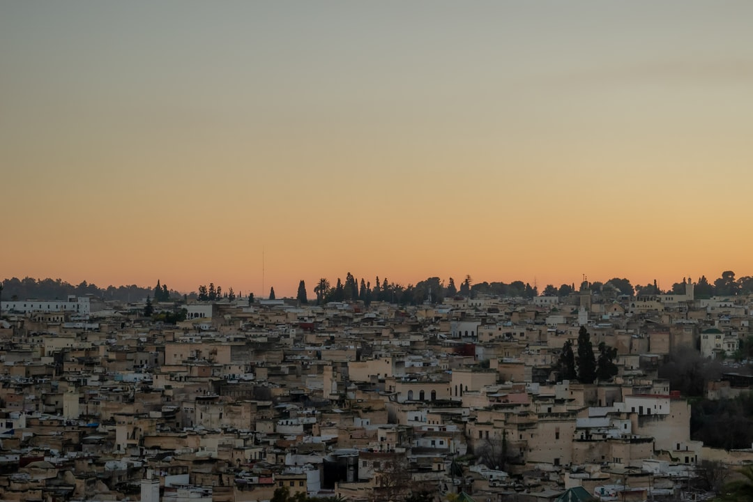 Sunset at Fez, Morocco.