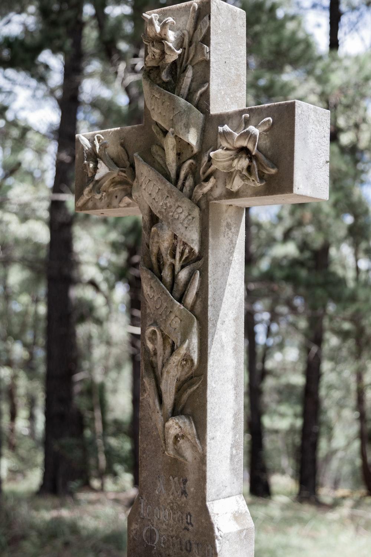 brown crucifix