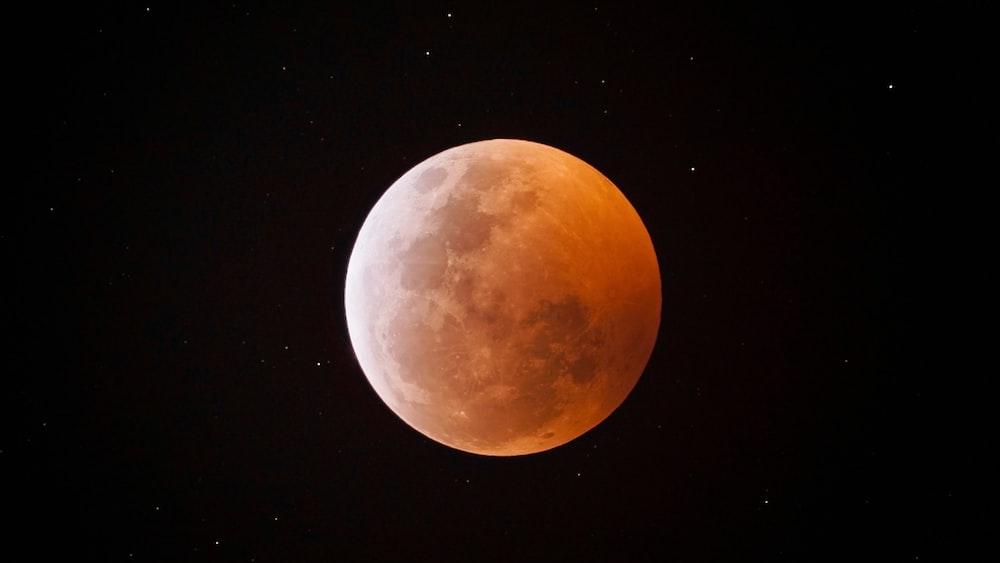 full moon under clear night sky