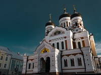 The famous cathedral on top of the Trumpea Hill in Tallinn Estonia.