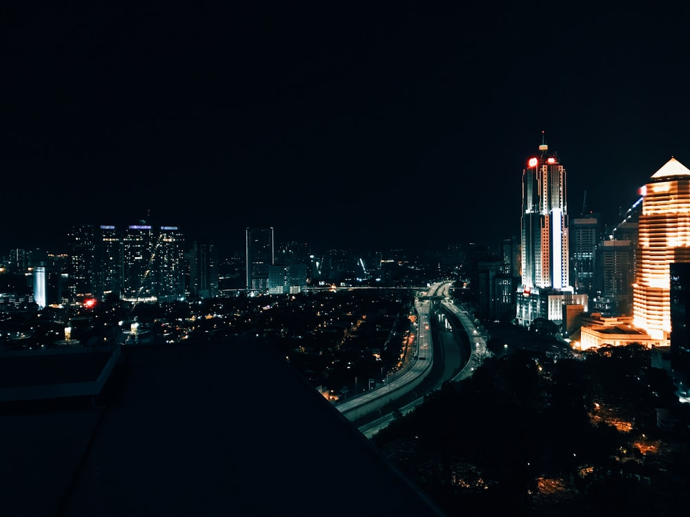 view of city during at night