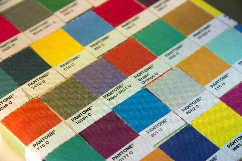 chart of Pantone paint sample