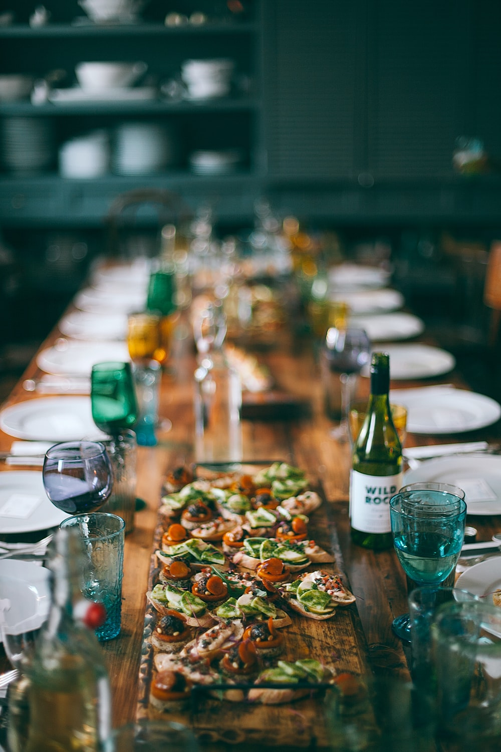 selective focus photography of dining set