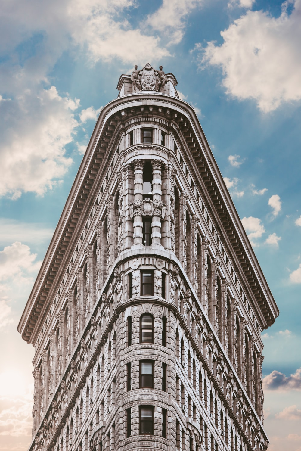 white clothes-iron-shaped building