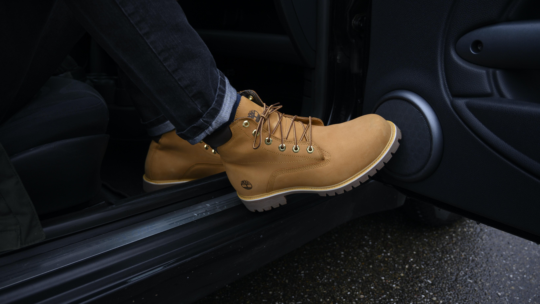 6 inch premium brown Timberland work boots
