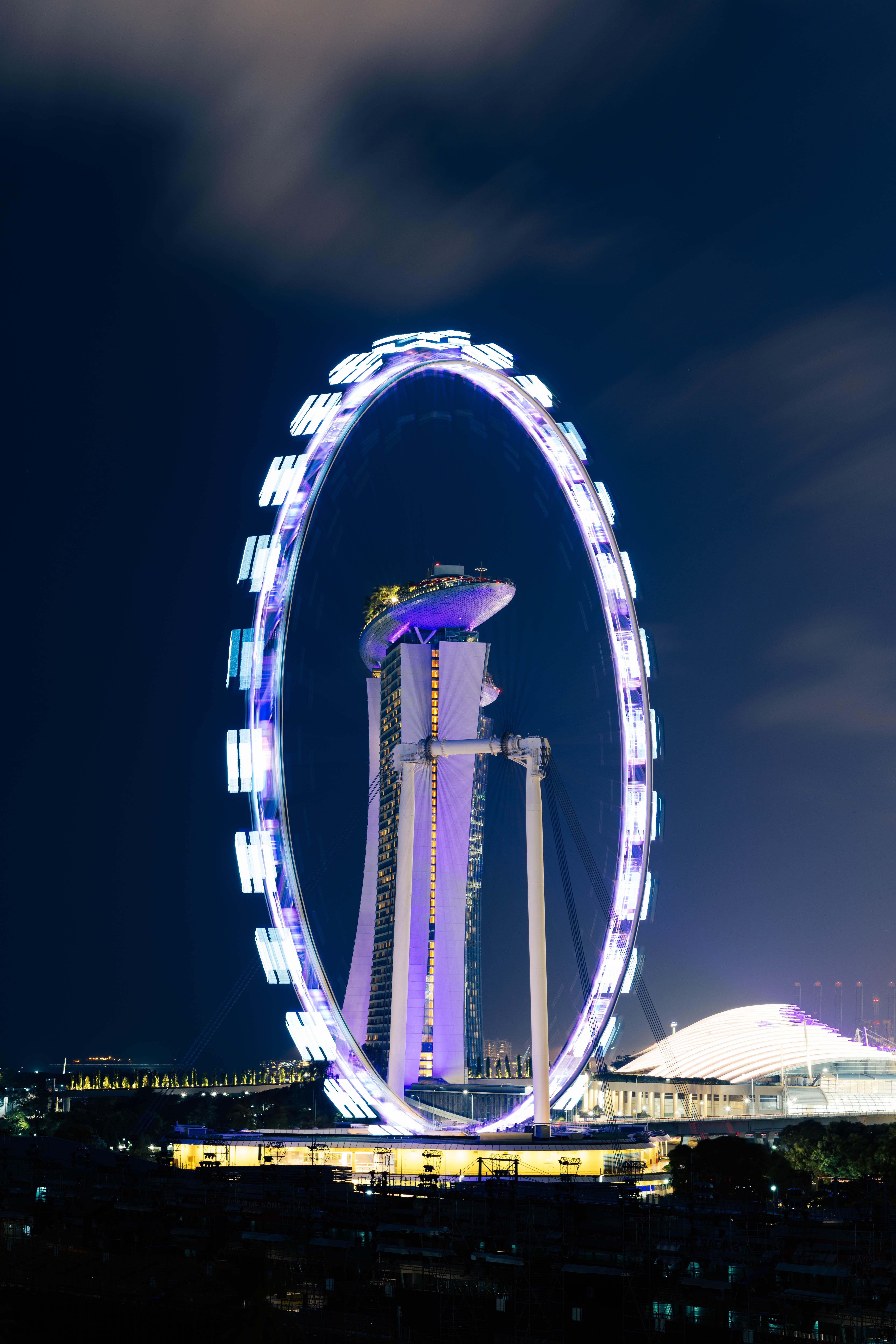 blue and white ferris wheel+