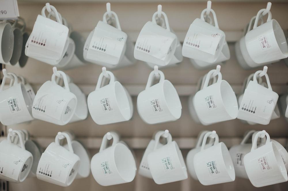 white ceramic cup lot