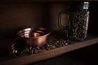 coffee beans on rack