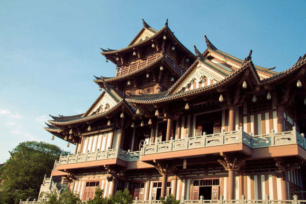 low angle photo of temple