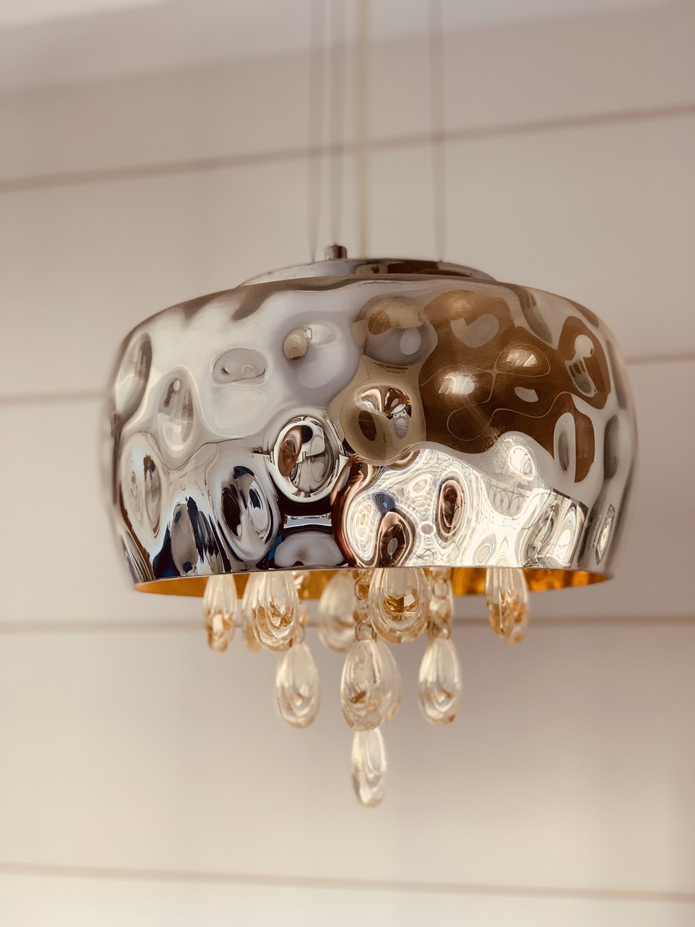 brass-colored chandelier