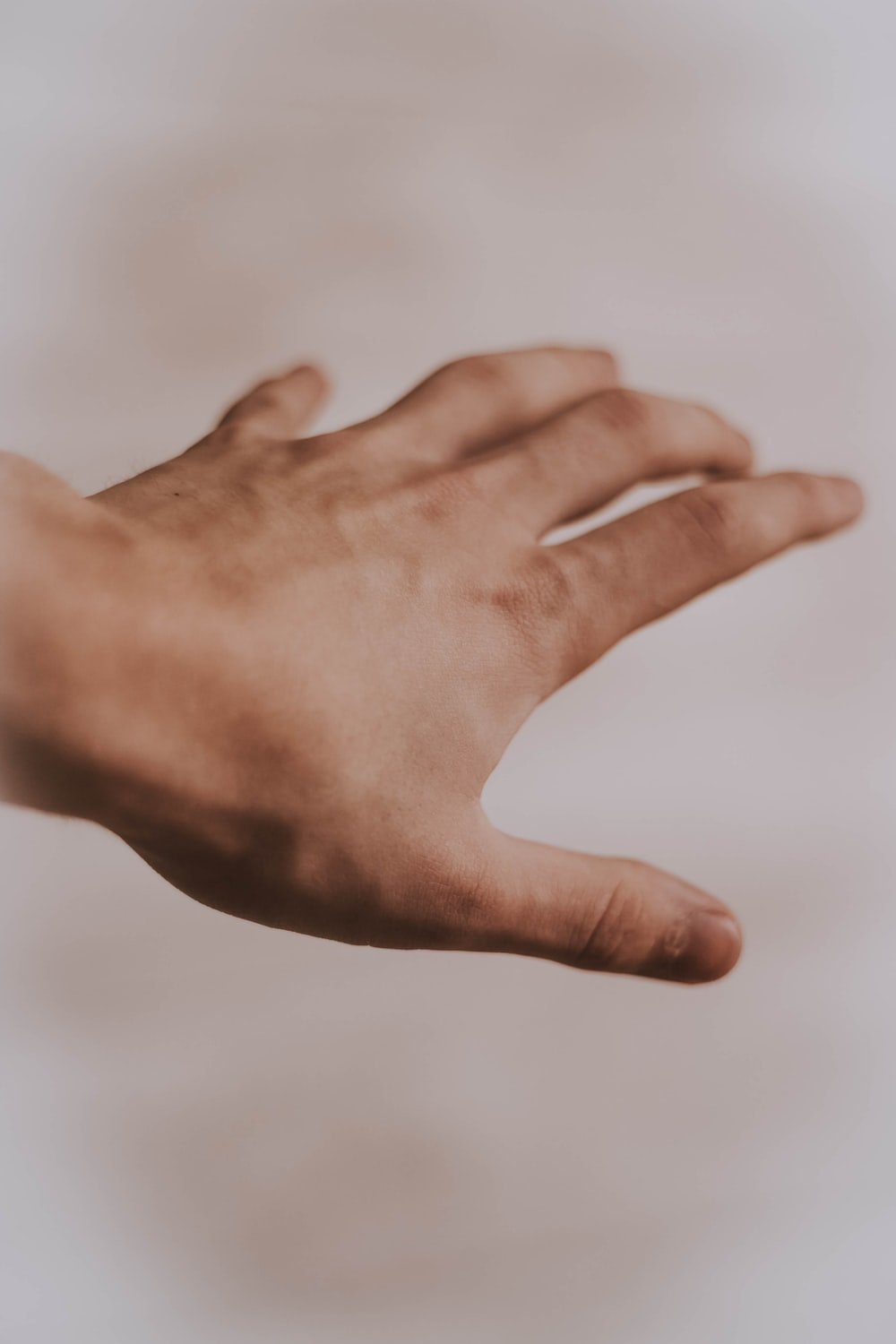 person's left hand