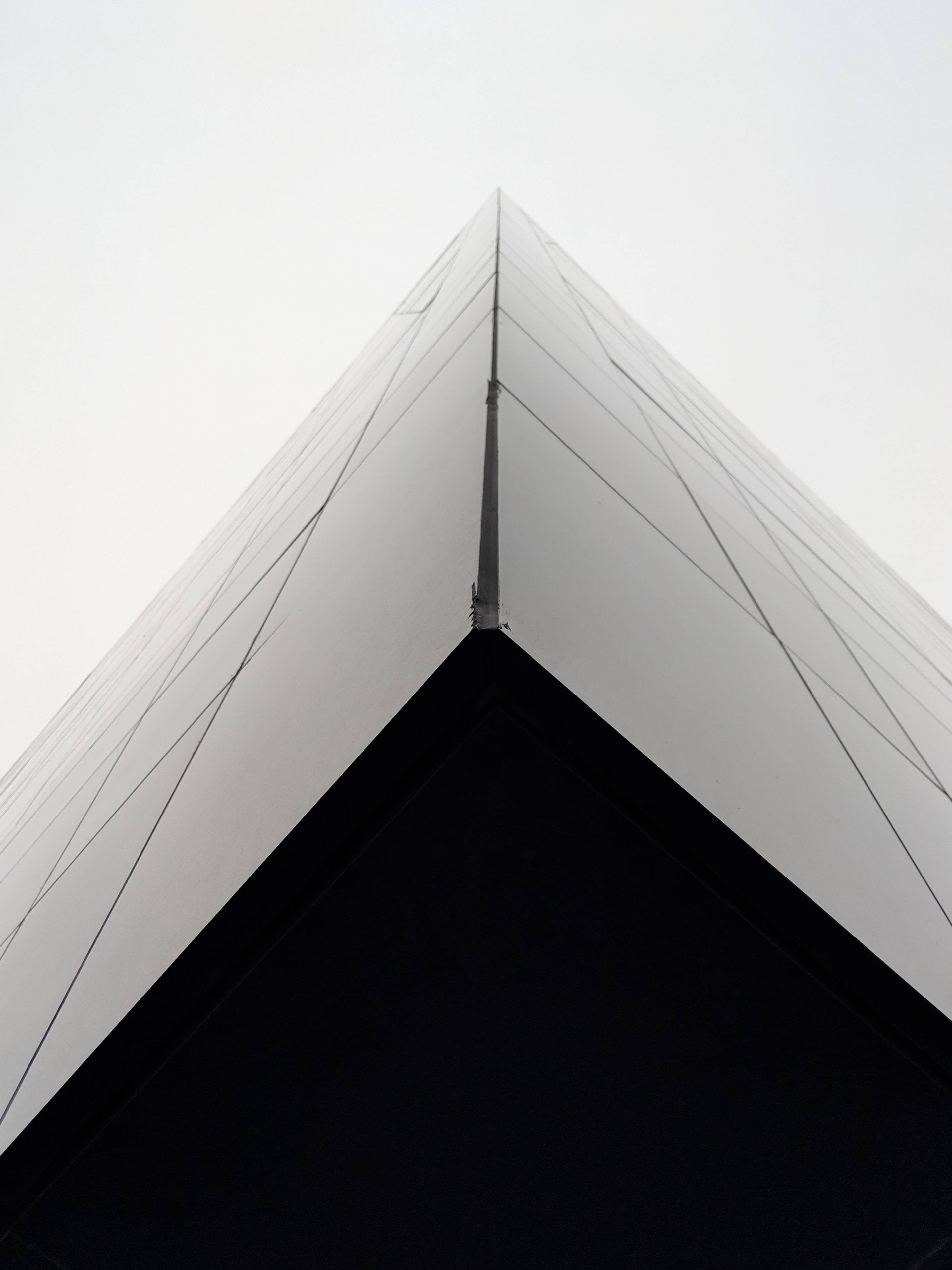 low angle photography of glass curtain building