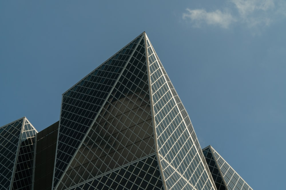 gray glass structure