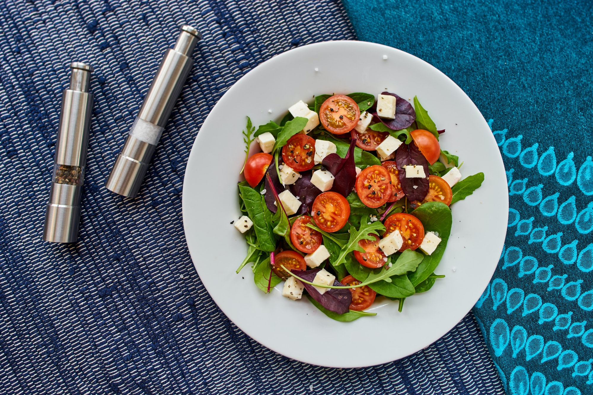 There is no better way than start your day with a tomato mozzarella salad!!