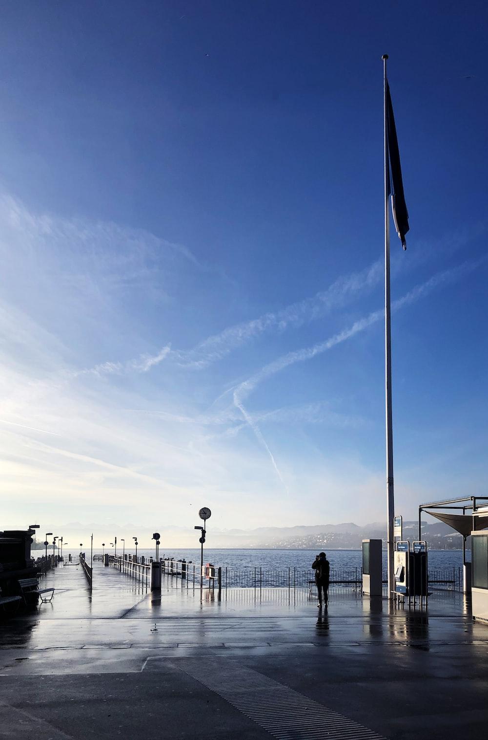 flag under clear blue sky