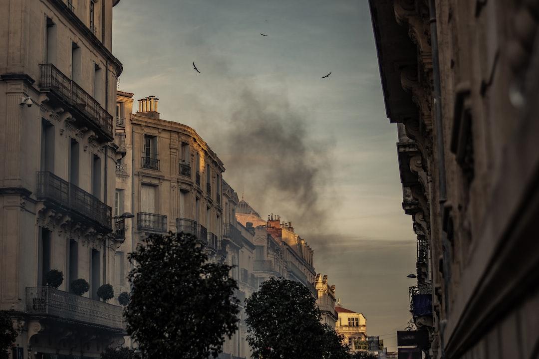 Fire in city