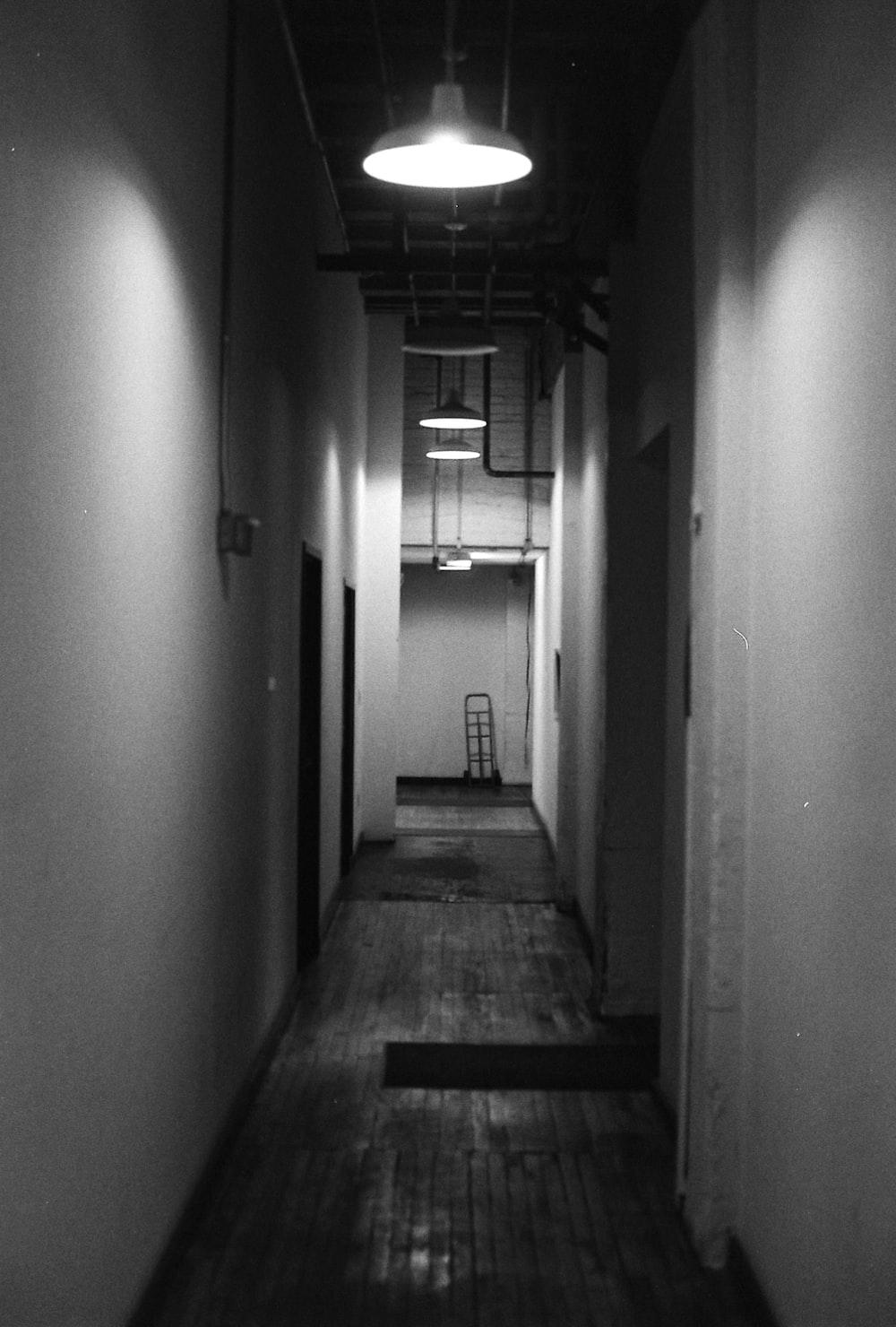 pendant lamp on hallway