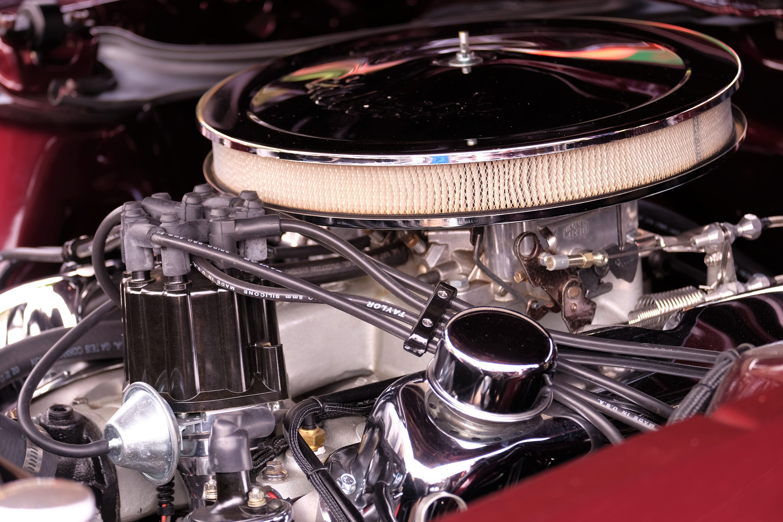 close-up photo of vehicle engine bay