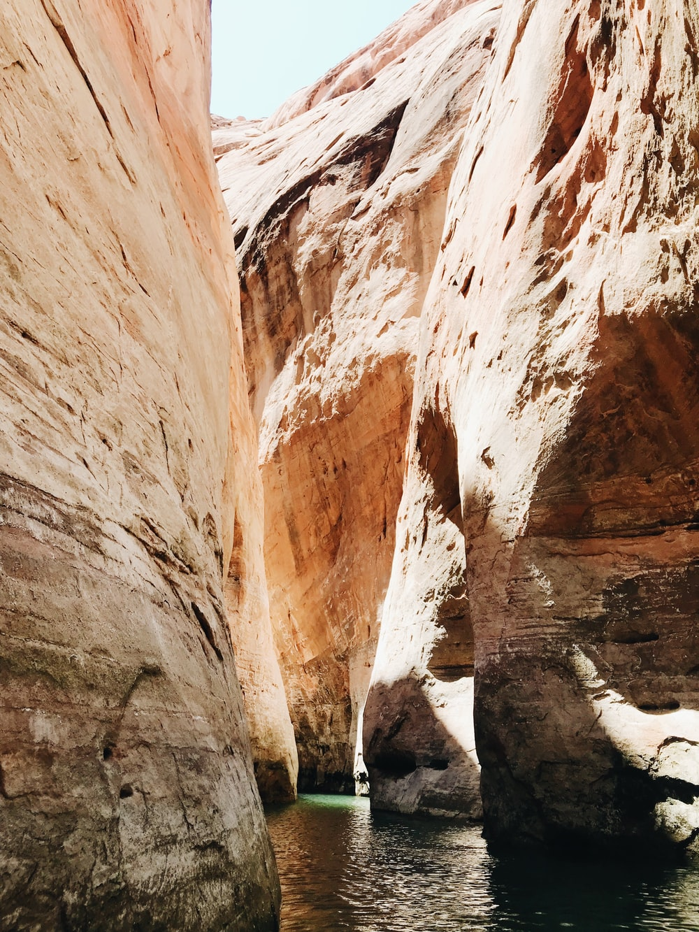 rock formation with body of water