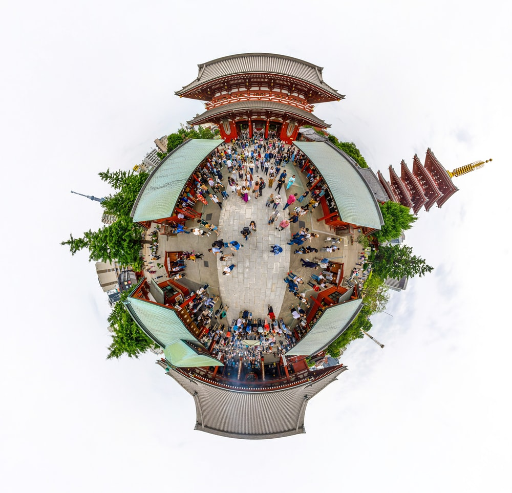 360 photography of temple