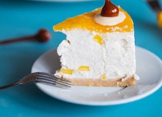 dessert on saucer