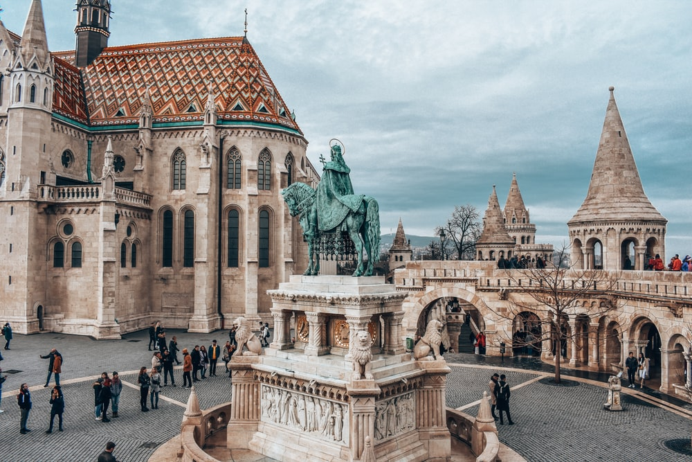 fisherman's bastion in Budapest during daytime