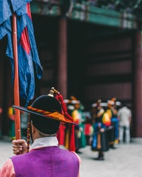 Temple guards ceremony in Seoul. So colorful and beautiful