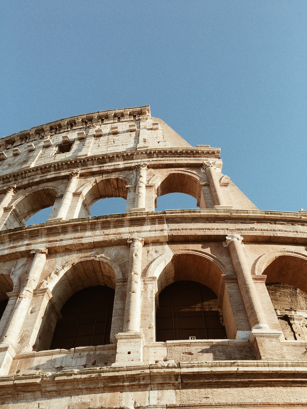 low angle view of Colosseum at Rome Italy