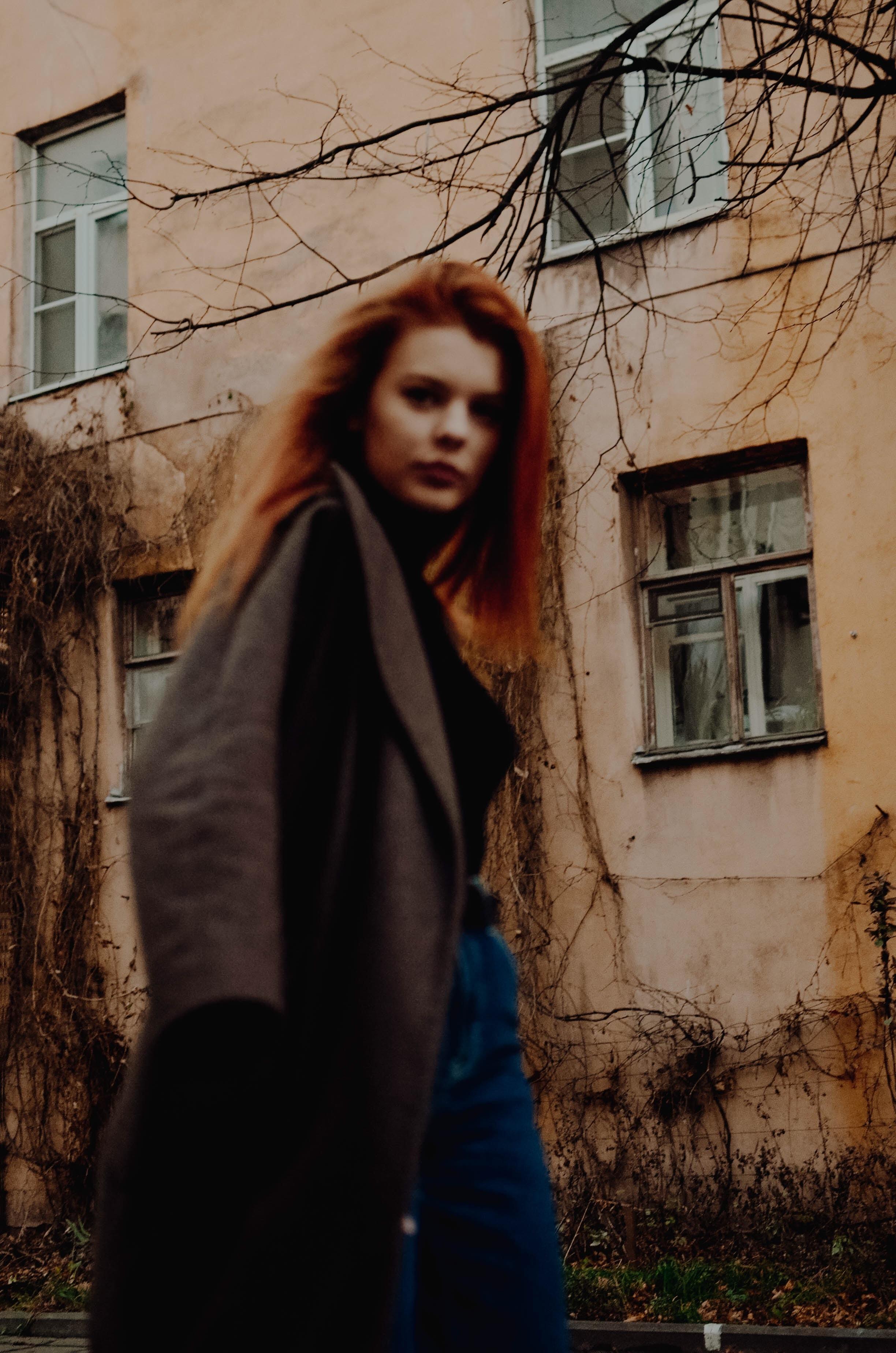 woman wearing coat