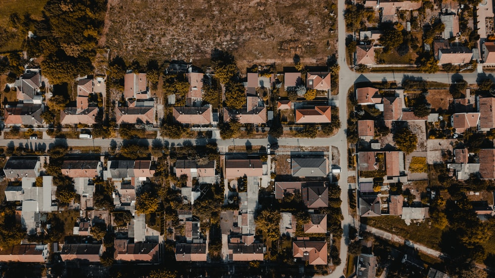aerial photography of houses