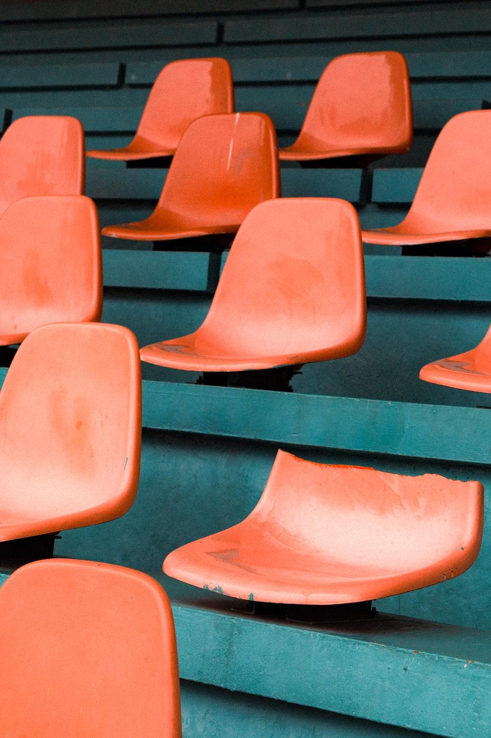 orange chairs