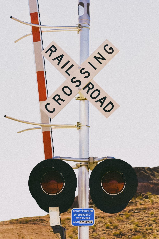 railroad crossing signage