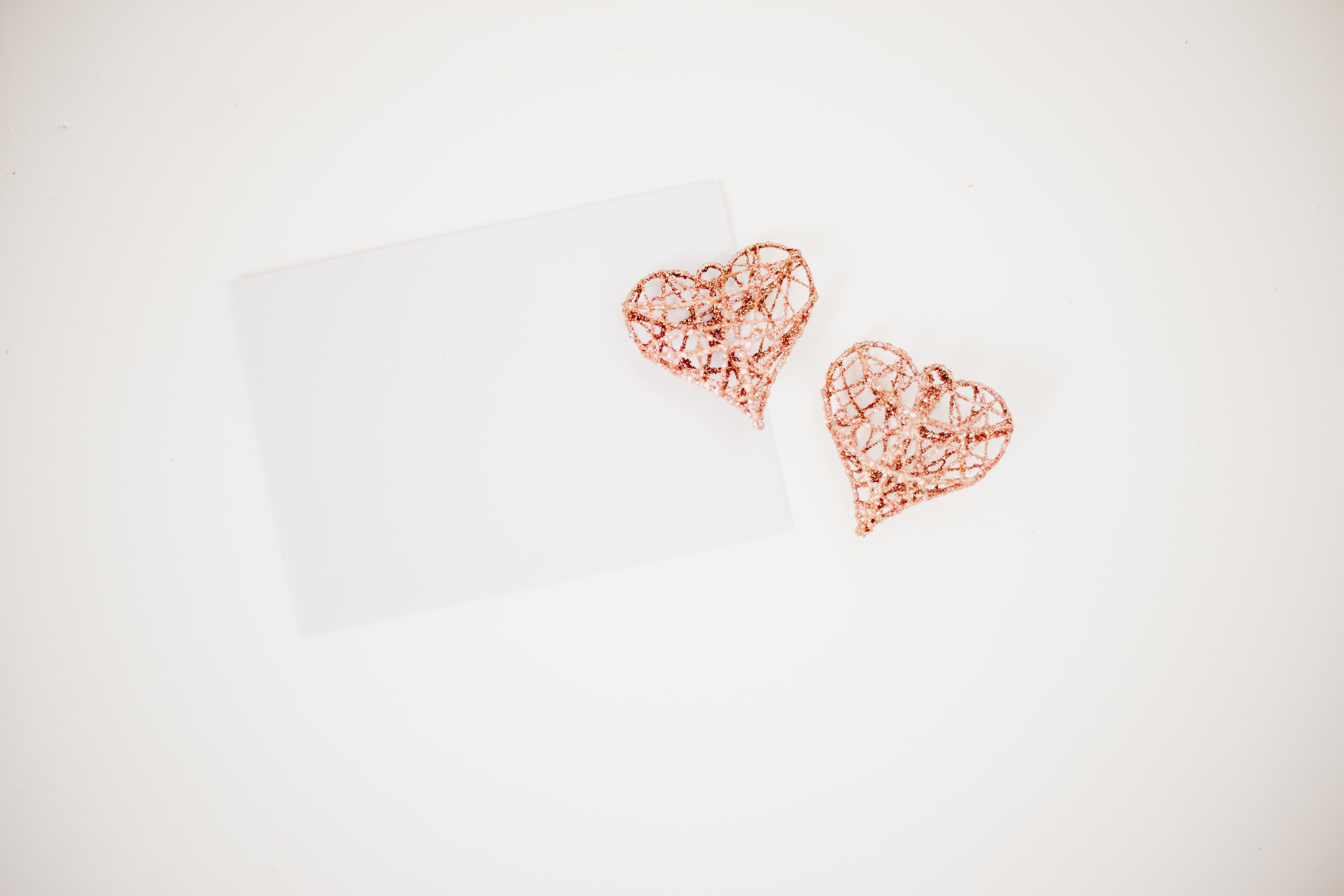 two red hearts illustration