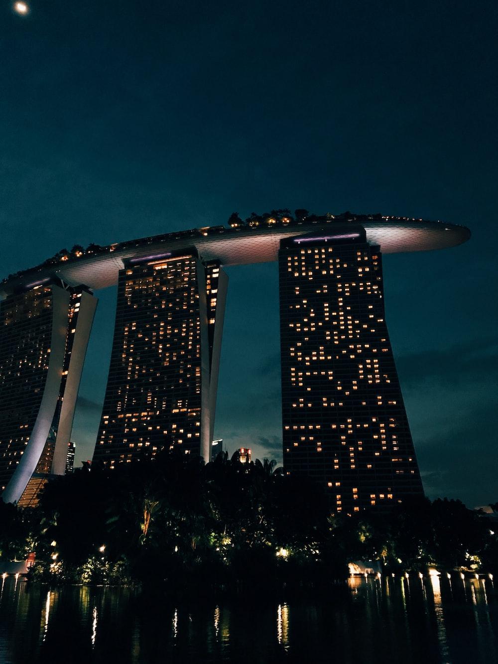 Marina Bay Sands during night