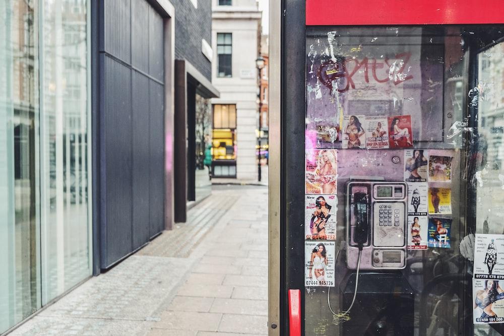 payphone near building