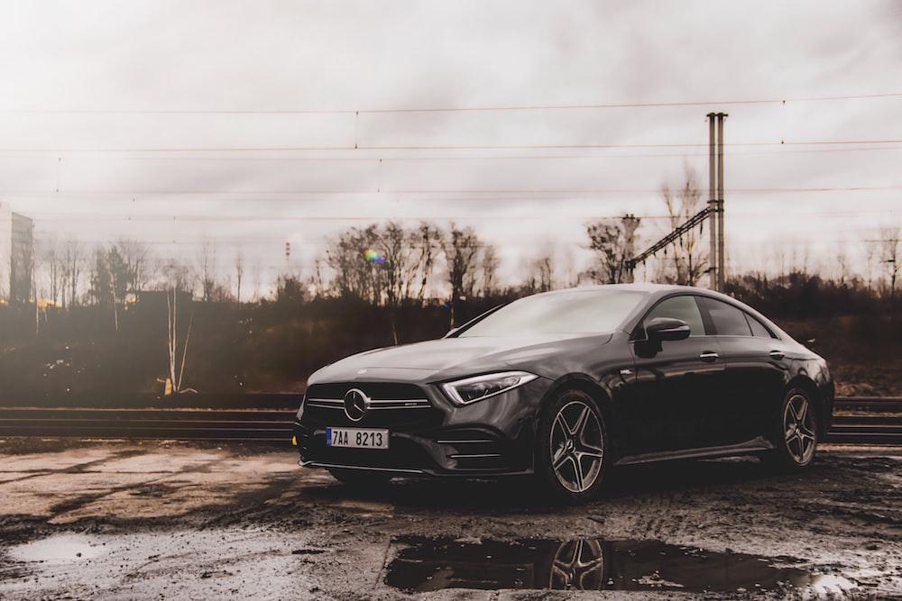 black Mercedes-Benz park