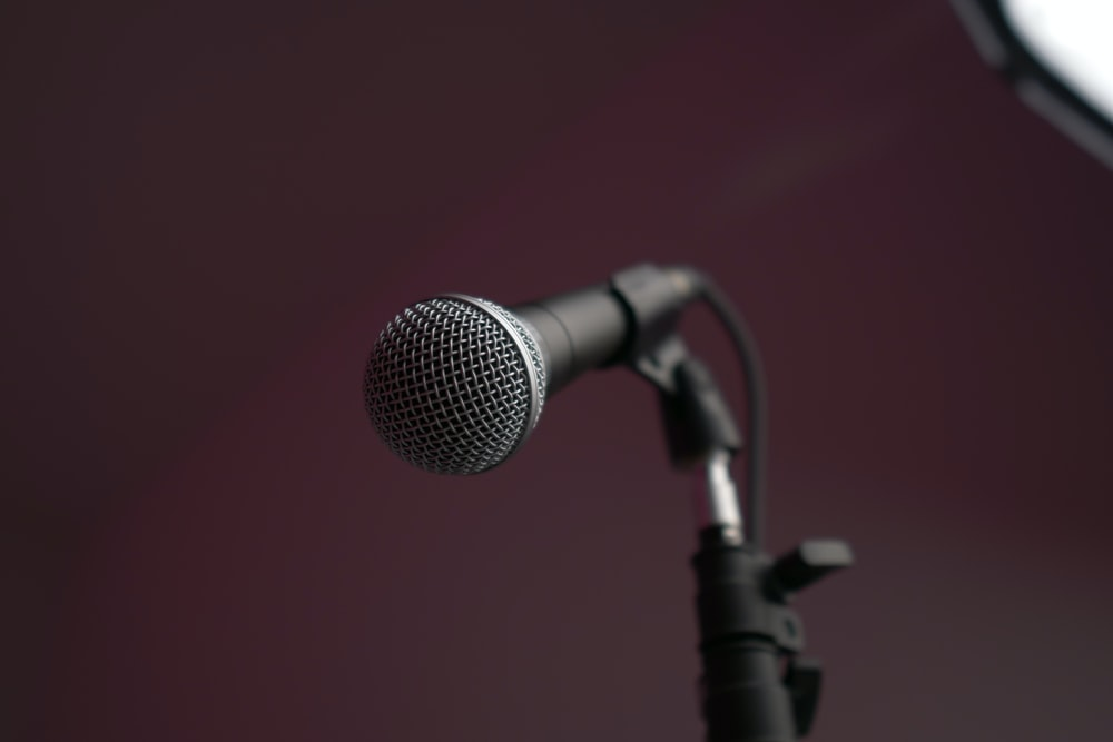 gray and black microphone