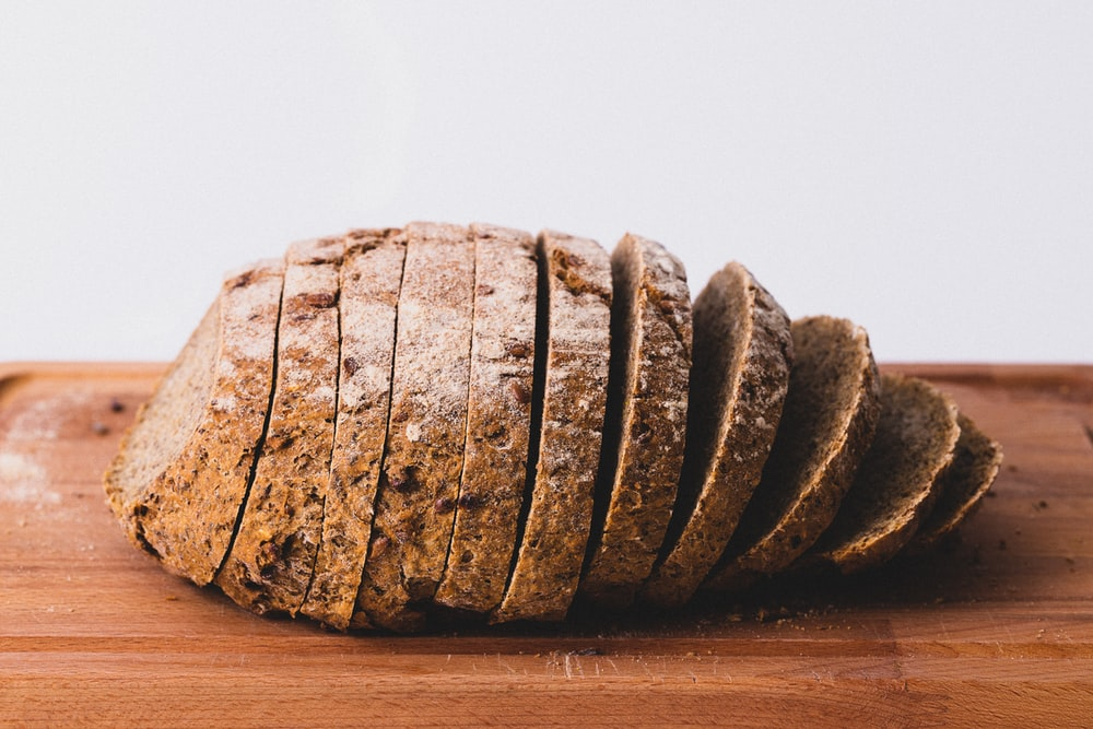 selective focus photography of sliced bread
