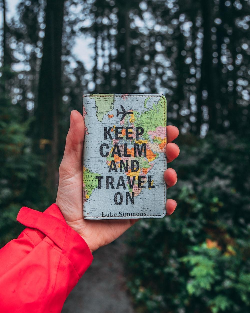 Keep Calm and Travel on bag