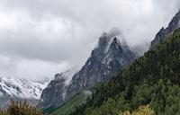 landscape photograph of mountain ranges