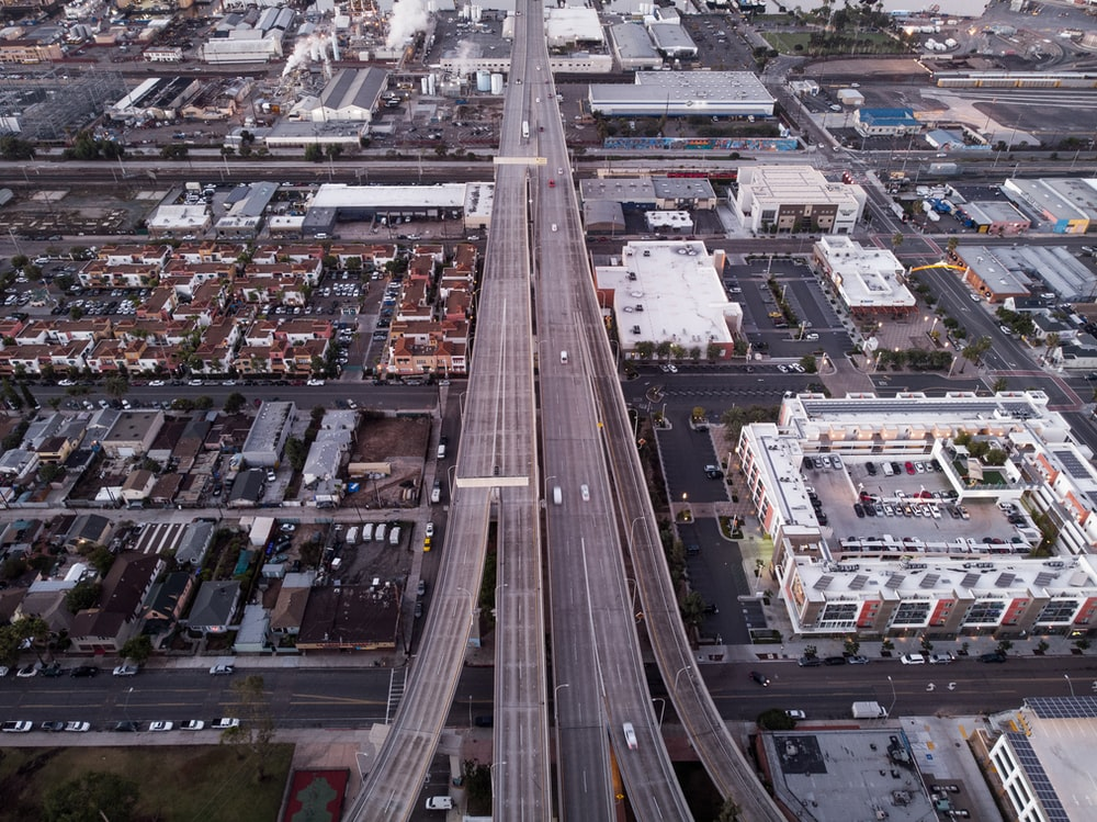 aerial photography of road during day time