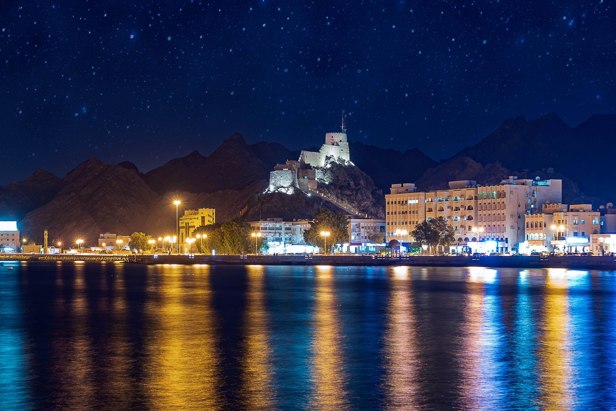 Oman city lights