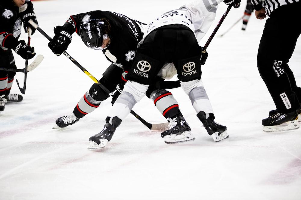 ice hockey players on rink