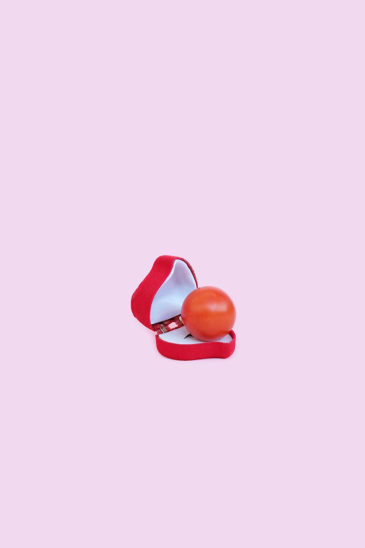 red orange stone in jewelry case