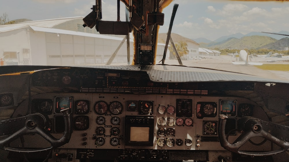 inside driver's plane view