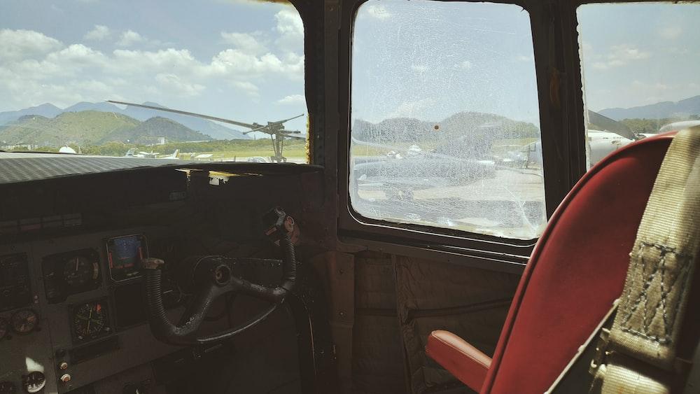 red pilot seat